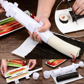 NEW Sushis Roller Sushe Kit Mold Maker Bazooka Sushi Rolls Making Tool Rice Mould Roller Cooking Tools