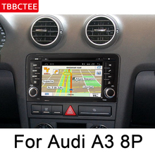 цена на For Audi A3 8P 2003~2012 MMI  Car Multimedia Player Android Radio DVD Auto audio GPS Navi Navigation Map bluetooth stereo