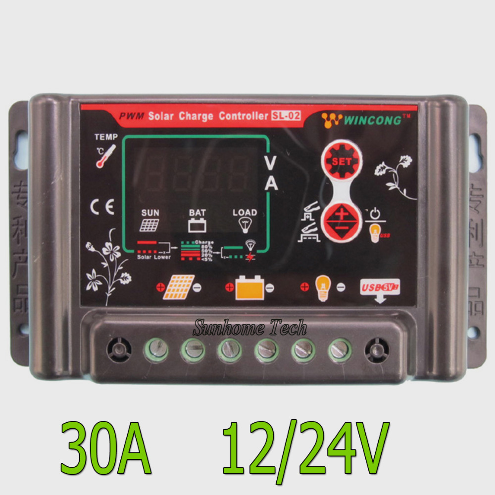 Auto Intelligent Li Ion Lithium Lifepo4 Battery Solar Charge Pwm Mode 12v 24v 6a Small Control Ce Controller Regulator Voltage Adjustable With 5v Usb In Controllers From Home
