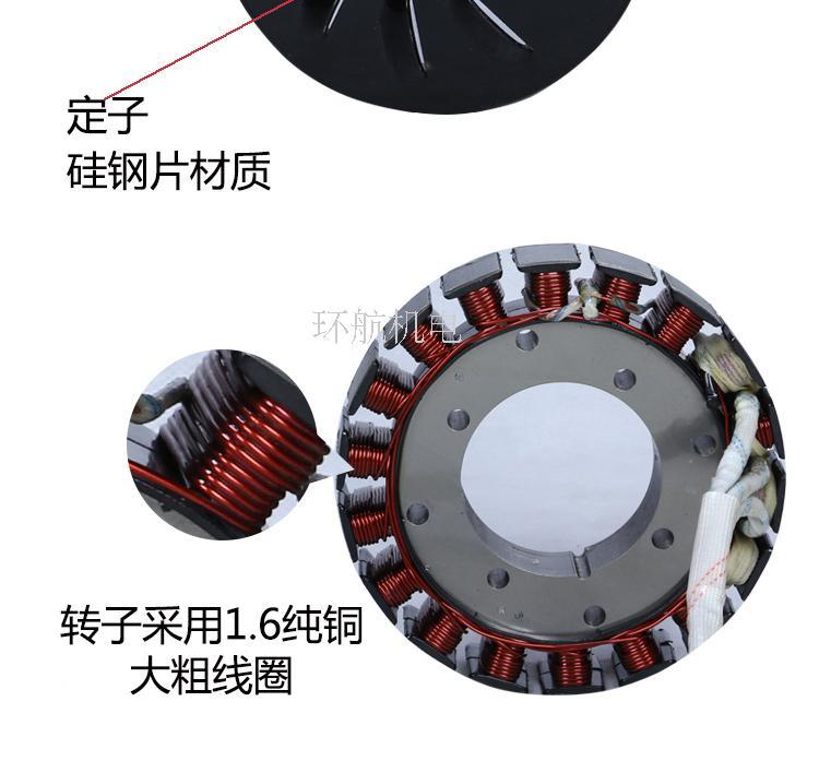 elétrico de três-quatro-rodas gasolina carregamento gerador