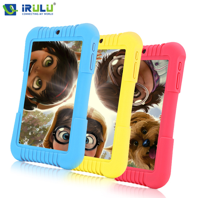 IRULU Y3 7 ''Andriod 5.1 Babypad Quad Core IPS 1280*800 Двойная Tablet PC Cam 1 Г/16 Г Wi-Fi Bluetooth Силиконовый Чехол Подарок для Детей