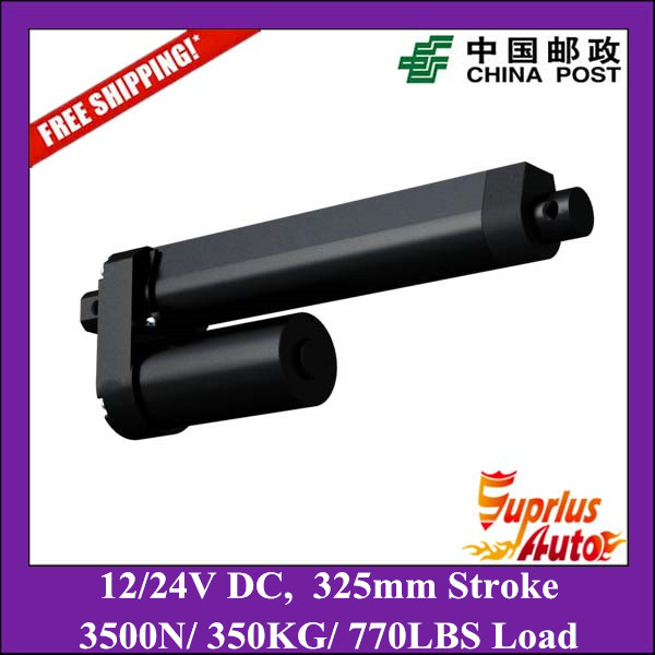 Free Shipping 13inch/ 325mm stroke linear actuator, 12V/24V DC 350KG/ 770LBS Max Load electric linear actuators free shipping smu24 smu24 s smu24 sr electric actuator damper actuators fire smoke actuator