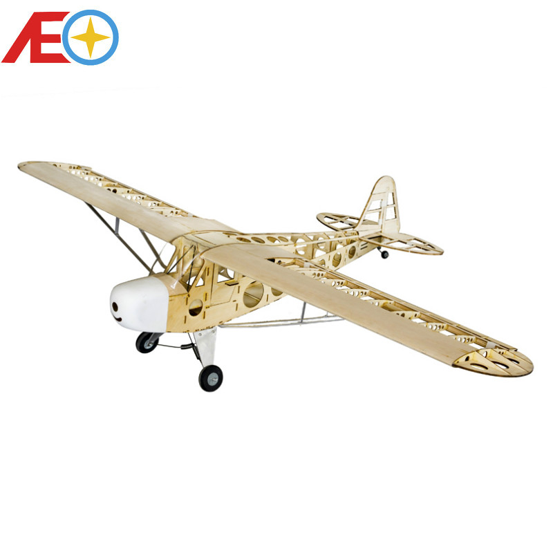 Piper J-3 Cub J3 Balsa Wood RC Airplane Laser Cut Kit 1800mm (70″) Building Woodiness model /WOOD PLANE