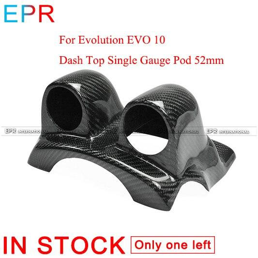 Для ЭВОЛЮЦИЯ EVO 10 Carbon Fiber тире верхней двойной Gauge Pod 52 мм для Mitsubishi Глянцевая волокна подкладке