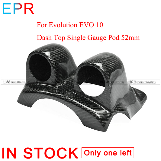 Для evotion EVO 10 углеродное волокно Dash Top двойной измерительный прибор Pod 52 мм для Mitsubishi глянцевое волокно интерьер