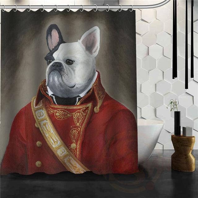 Custom Engels Bulldog Douchegordijn Multi Size Waterdichte Badkamer Fabriccurtains Curtain Line Curtain Openercurtains Upholstery Aliexpress