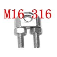 M16, 16mm West Coast Wire Rope Clip In Acciaio Inox Morsetto Cavo Clip, SS 316