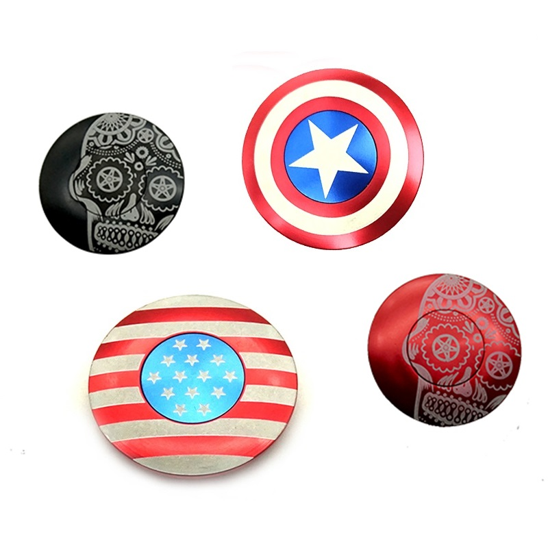 High Quality Bicycle Stem Top Cap Headset Cover with Bolt Cycling Accessories Steerer of Captain America Spider Logo
