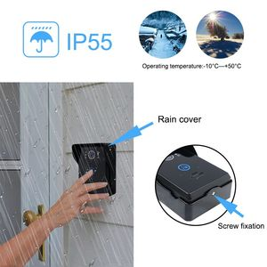 Image 3 - Saful السلكية فيديو إنترفون 7 نظام مقاوم للماء فتح الإلكترونية 220 فولت الجرس رصد للرؤية الليلية المنزل شقة باب الهاتف