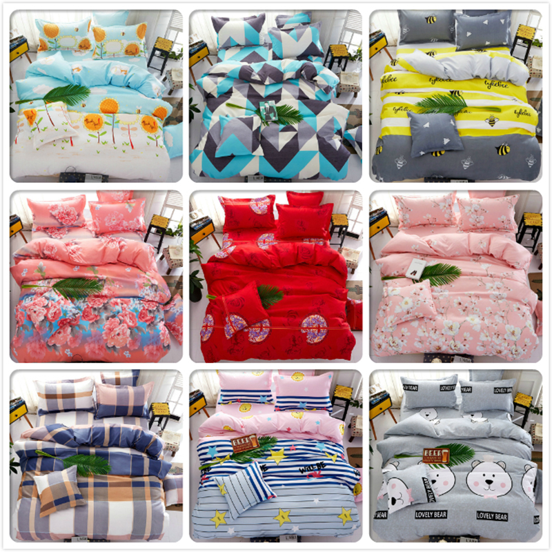 Bedlinens Kids 3/4 pcs Bedding Set 1.2m 1.5m 1.8m 2m Bedsheet Bed Linen King Queen Size Duvet Cover Pillow Quilt Case BedclothesBedlinens Kids 3/4 pcs Bedding Set 1.2m 1.5m 1.8m 2m Bedsheet Bed Linen King Queen Size Duvet Cover Pillow Quilt Case Bedclothes