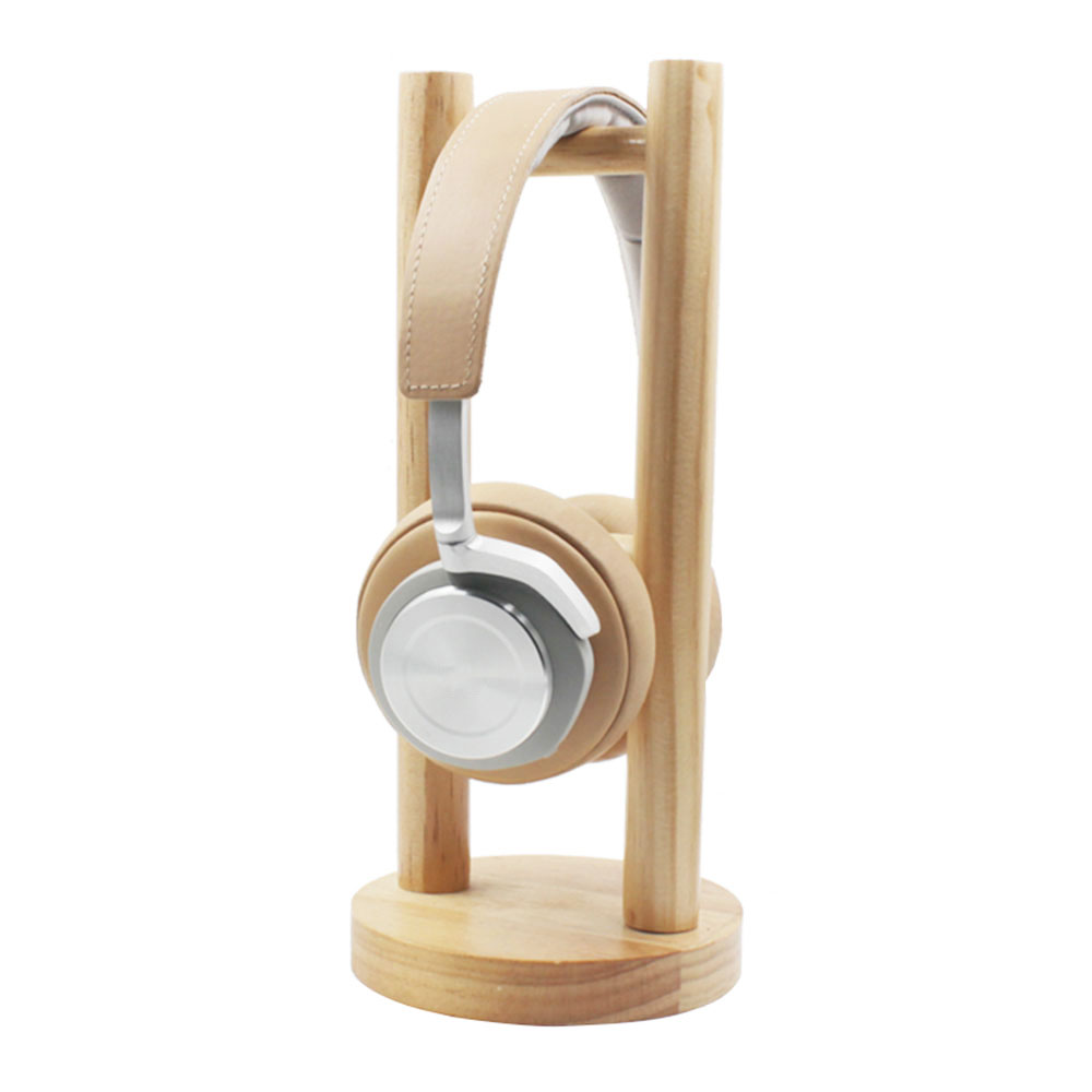 Strong Real Wood Wooden Design Professional Carbon Headset Headphone Stand Holder Headphone Rack