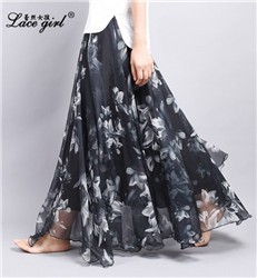 New-Women-Skirts-Chiffon-Pleated-Skirt-Beach-Print-long-Skirt-Europe-Americas-2016-New-Summer-Skirts.jpg_640x640