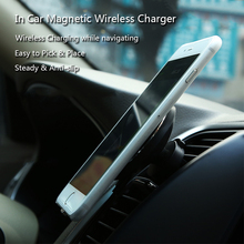 Car Wireless Charger For Iphone 8 Iphone X Samsung S8 S8 Plus S7 Edge S7 Flexible Rotation Magnetic Air Vent