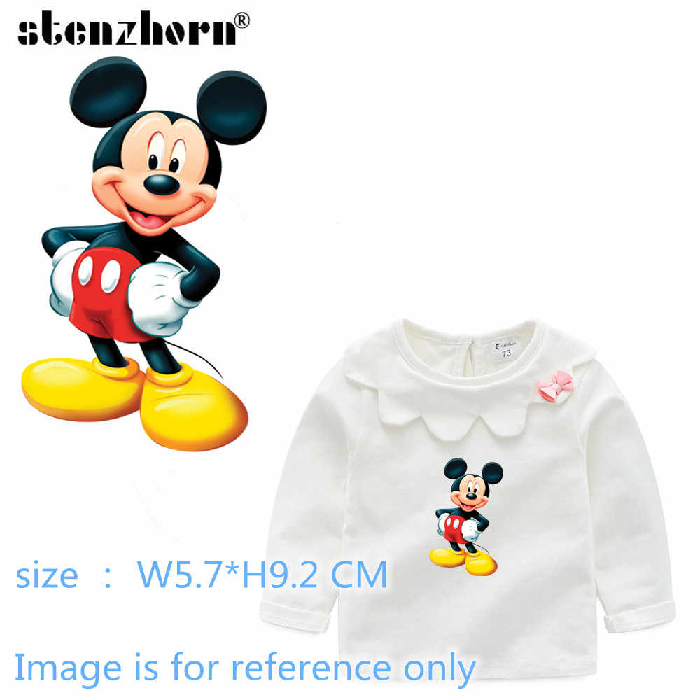 Mickey Minnie stickers heat transfers for clothes iron on transfers for clothing fusing t-shirt transfer A Level applications
