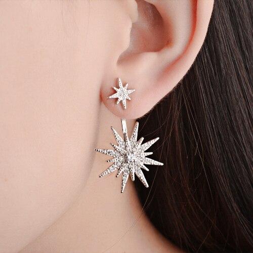 0d5b39ab78998 مربط القرط للنساء نجم جديد وصول الأذن الكفة الأمامي والخلفي إعدادات  اكسسوارات أعلى جودة النيكل الحرة الأزياء مجوهرات