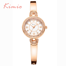 KIMIO Luxury Designer Ladies Wrist Watches Top Brand Elegant Crystal Diamond Watch For Women New Fashion Relogio Feminino 2016