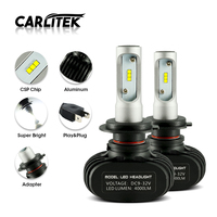 CARLitek N1 S1 H4 H7 H1 LED H11 Car DRL Headlight Bulb 50W Near Far Beam