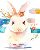 Decoration Gift 5D DIY House Pet Diamond Painting Watercolor Painting Rabbit Cross Stitch C