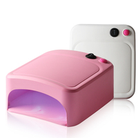 IKONNA Mini Dryer Nail Lamp For Nails 36W UV Lamp 220V Nail Gel Lamp Beige Pink Color The Leds Lamp Nail Drying