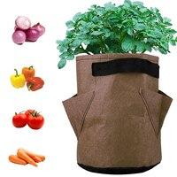 Овощное растение мешок для выращивания DIY картофелеуборочный Плантатор из полиэтиленовой ткани томатный посадочный Контейнер Мешок утолщ