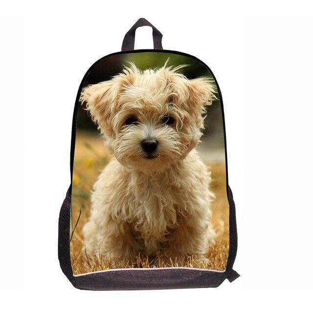 974f96686ef1 US $21.99  Trendy Design Animal Dog Tiger Backpack Fashion Zoo Animal  Children Cartoon Bag Pack Mochila School Kids Rucksack Travelling bag-in ...