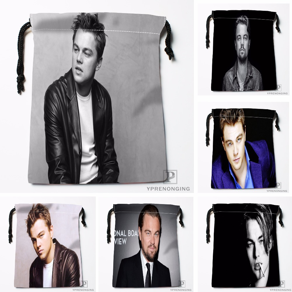 Custom Leonardo Dicapri Drawstring Bags Printing Travel Storage Mini Pouch Swim Hiking Toy Bag Size 18x22cm#180412-11-21