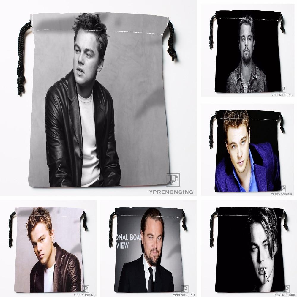 Custom Leonardo Dicapri Drawstring Bags Printing Travel Storage Mini Pouch Swim Hiking Toy Bag Size 18x22cm#180412-11-21