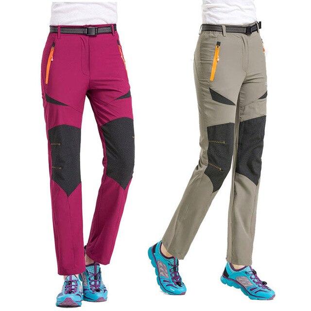 a6ec9e97768 2018 New Women Spring Summer Hiking Pants Sport Outdoor Fishing Climbing  Trekking Camping Trousers Quick Dry Female Pants VB003