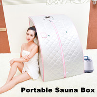 1000W Portable Personal Home Folding Sweat Steam Sauna SPA Tent Bath Slim Detox Weight Loss Indoor Sweating Steamer Room Bathtub