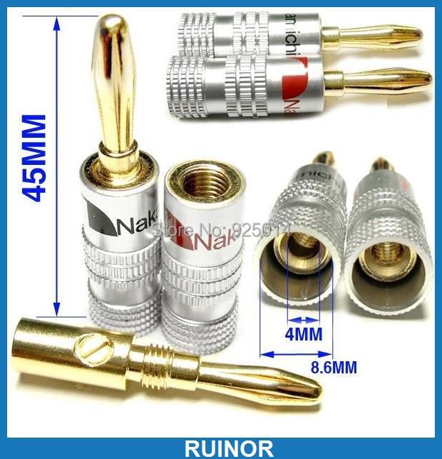 ФОТО 20 pcs screws Aluminum copper Banana Plugs Socket for Amplifiers Binding Post