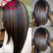Highlight Full Lace Wigs Glueless Full Lace Human Hair Wigs Brazilian Silky Straight Virgin Hair Lace Front Wigs For Black Women