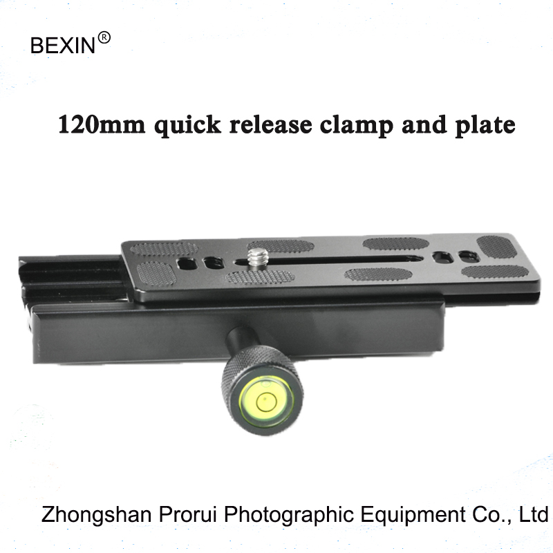 High Quality QR120 Clamp For Quick Release clamp Plate Compatible to Tripod Ball Head 120mm long Quick Release clamp with plate