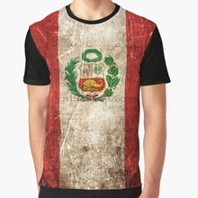 0c6f0e1ca24 All Over Print 3D Women T Shirt Men Funny tshirt Vintage Aged and Scratched Peruvian  Flag