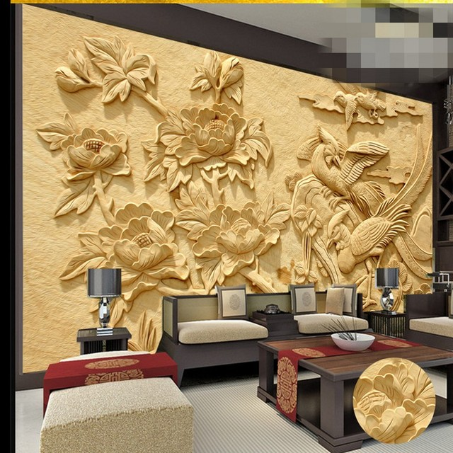 beibehang papel de parede Custom Wallpaper Wall Fresco Stereo Emboss ...