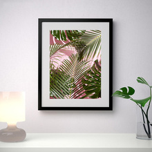 Palm Tree Print Vogue Watercolor Wall Art Canvas Painting Leaf Posters and Prints Blush Pink Picture Unframed
