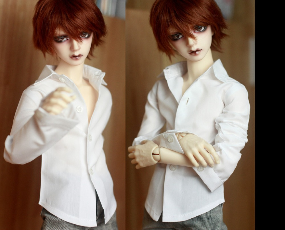 BJD Doll Colthes White Classic Shirt For 1/3 1/4 BJD DD SD MSD MDD SD17 SSDF Uncle Doll Accessories
