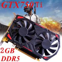 High Quality GTX 750Ti 2GB DDR5 128Bit VGA DVI HDMI Graphics Card For NVIDIA For GeForce