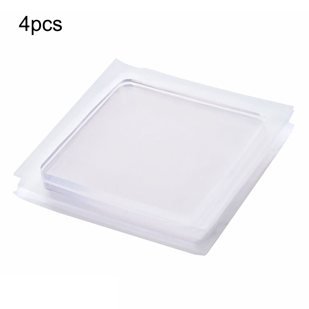 4pcs/set Transparent Anti Vibration Mat For Washing Machine Furniture Chair Silicone Pad Non-Slip Mat Shock Absorbing Pad