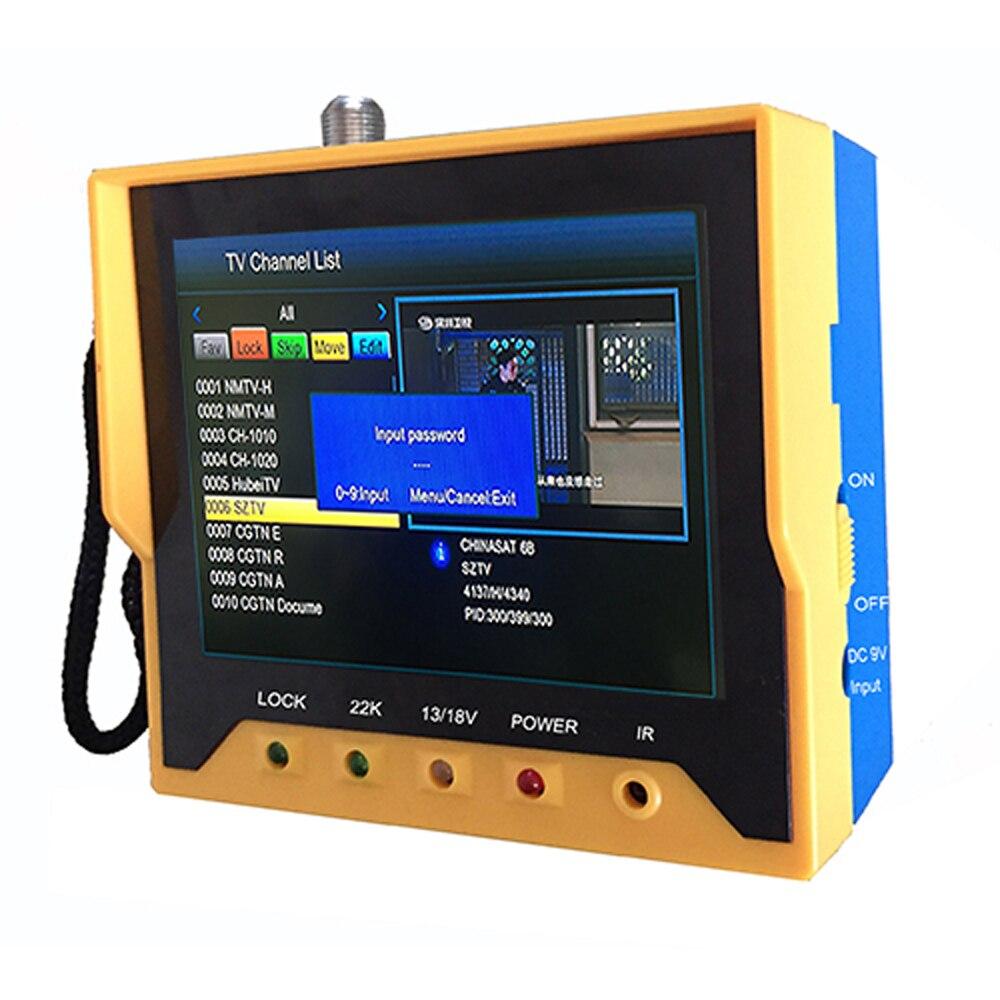 KPT 356H DVB-S2 Fast Tracking Full HD Digital Satellite TV Receiver Finder Meter MPEG-4 Modulator DVB-S Sat Finder