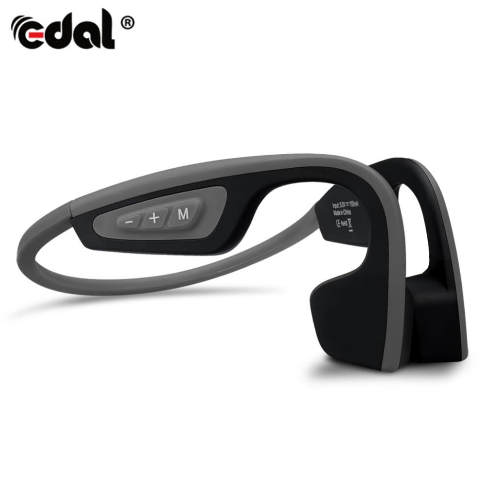 EDAL Bone Conduction Headsets Wireless Hands-Free Bluetooth Stereo Headsets BT 4.1 Version Waterproof Neck-Strap Earphones