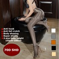 70D plus size autumn Womens tights T-crotch oil Shiny sexy pantyhose pole dance Stockings hose