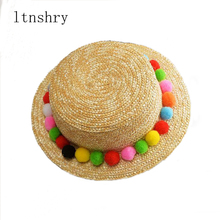 2019 New summer Sun Hats  Fashion Wheat Panama Summer For Women Boater Chapeau Paille ladies Straw Accessories