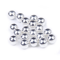 4mm 10mm Bulk Bag Metallic Silver Glitter ABS Resin Beads Pearl Imitation Round No Hole Clothes