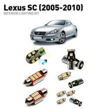 Led interior lights For Lexus sc 2005-2010  11pc Led Lights For Cars lighting kit automotive bulbs Canbus цена