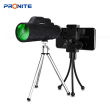 12x50 Monocular Zoom Vision Hunting Telescope HD Professional telescopic mirror Opera Turizm Spyglass / phone holder