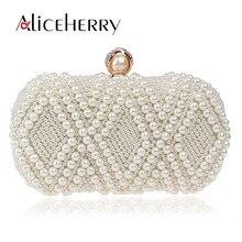 e7f58025e8 Luxe cristal perle blanc soirée pochettes femmes robe élégante Banquet sac  à main marques de mariage dame sac à main sac