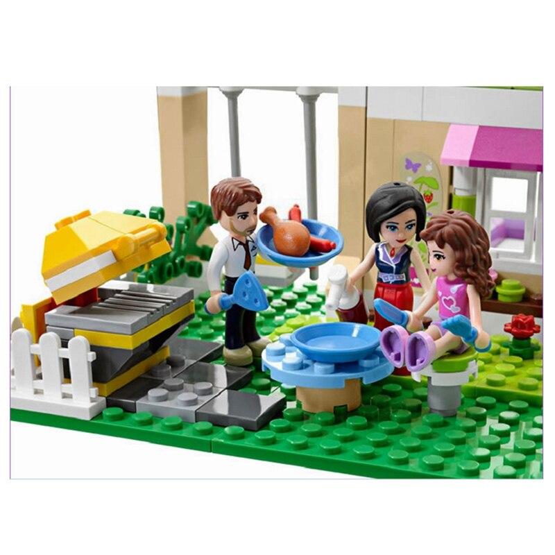 Oyuncaklar ve Hobi Ürünleri'ten Bloklar'de Modeli yapı kiti ile uyumlu legoing 3315 Kız Arkadaş olivia'nın evi 3D blok Eğitici bina oyuncaklar çocuklar için'da  Grup 3