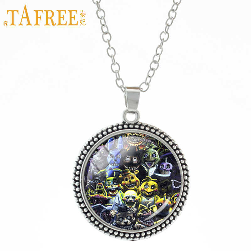 TAFREE Cartoon Games Stock Vector Necklace & pendant Five Nights at Freddy's incredibly unique pendants boys girls jewelry A244