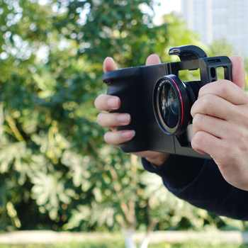 Jaula de conejo común Smartphone Cámara estabilizador vídeo Rig jaula de filmación + lente para Xiaomi iPhone teléfono estabilizador de cámara