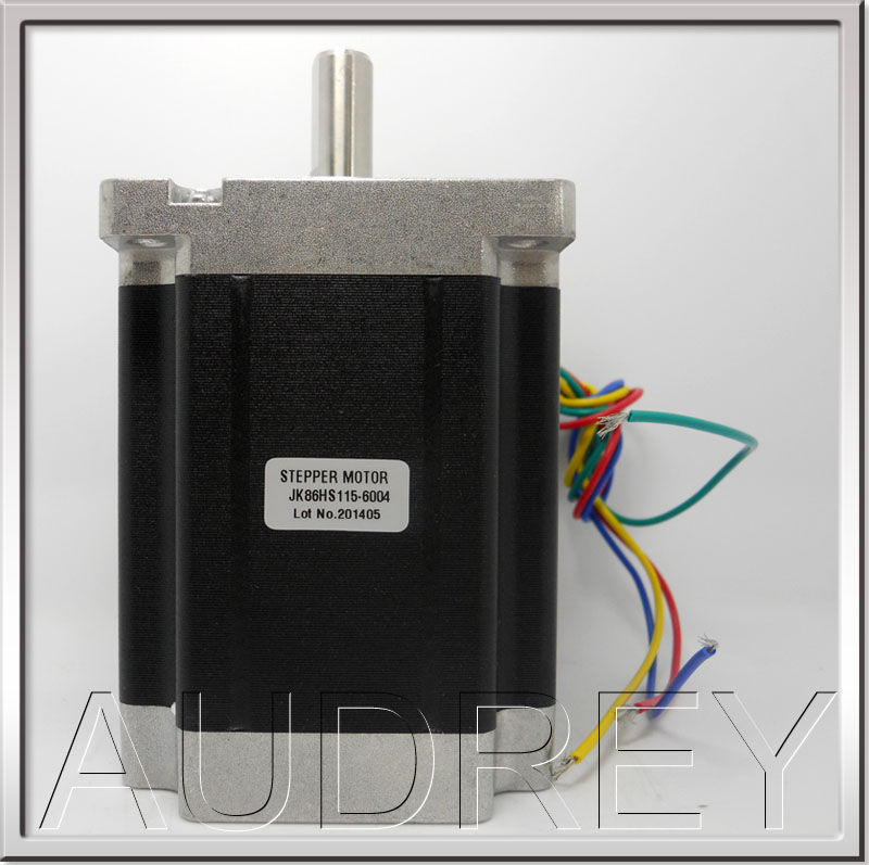 Free shipping 1.8gegree 86mm 2phase hybrid stepper motor NEMA34 6A 8.7N.m 4wires high torque stepper motor 3V 115mm 86HS115-6004 free shipping genuine leadshine 110hs28 phase nema 42 hybrid stepper motor with 28 n m 6 5 a length 201 mm shaft 19 mm